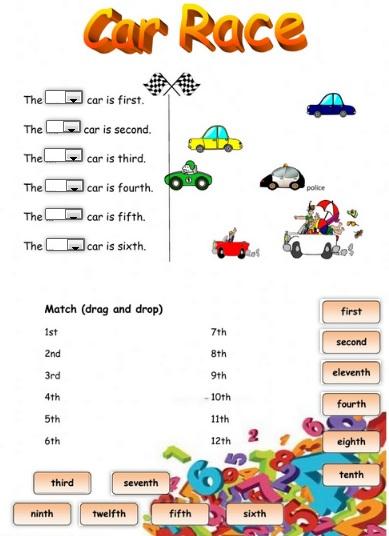 car race ordinal